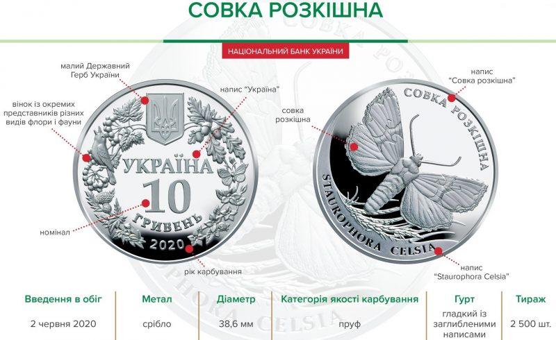 """Монета """"Совка роскошная"""" 10 гривен"""
