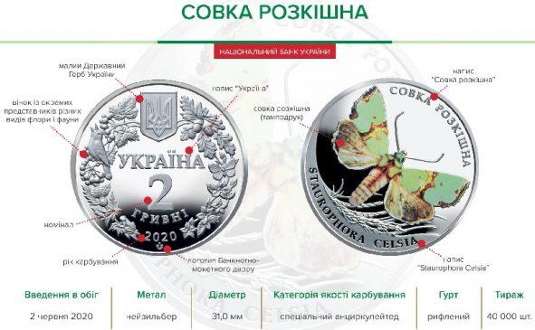 """Монета """"Совка роскошная"""" 2 гривны"""