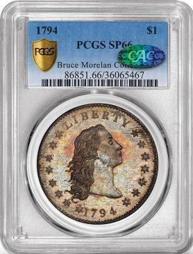 Серебряный доллар 1794 года (Flowing Hair Silver Dollar)