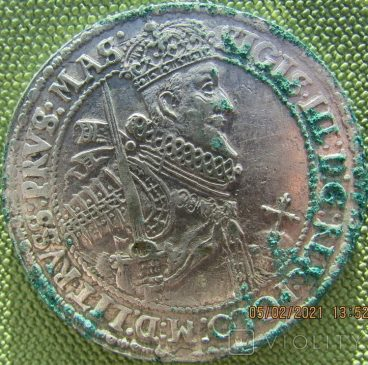 Легкий Талер Сигизмунда Третьего 1621 года