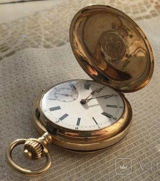 Старинные карманные золотые часы 18k