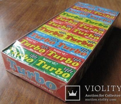 Запечатанный блок жвачек Турбо 1988 года, 2-ая серия (вкладыши с 51 по 120)